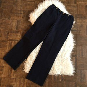 St John Sport Marie Gray 6 Navy Straight Leg Pants